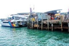 奥克兰港口,新西兰, 12 2010年8月 免版税图库摄影
