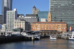 奥克兰轮渡码头新西兰 免版税库存照片