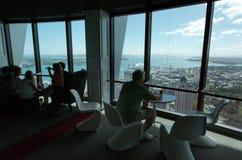 奥克兰都市风景-天空塔 免版税库存图片