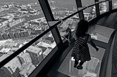 奥克兰都市风景-天空塔 免版税库存照片