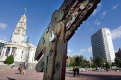 奥克兰都市风景- Aotea广场 免版税库存照片