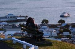 奥克兰都市风景- Devonport 免版税库存图片