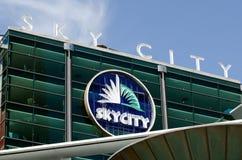 奥克兰都市风景- Skycity 免版税库存照片