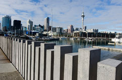 奥克兰高架桥港口水池 库存照片