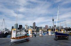 奥克兰高架桥港口水池 免版税库存图片