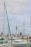 奥克兰,新的西兰2013年12月10日 奥克兰市和天空 图库摄影