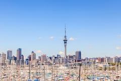 奥克兰,新的西兰2013年12月12日 奥克兰都市风景  库存图片