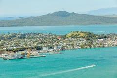 奥克兰,新的西兰2013年12月12日 从Auc的海景视图 库存照片