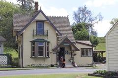 奥克兰,新西兰- 2015年1月01日:康沃尔郡公园,情报中心 免版税库存照片