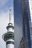 奥克兰,新西兰- 2014年11月24日:328米(1,076 ft)高 免版税库存照片