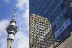奥克兰,新西兰- 2014年11月24日:328米(1,076 ft)高 免版税图库摄影