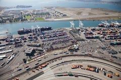奥克兰-奥克兰,加利福尼亚,美国港  免版税库存图片