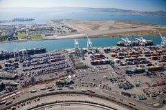 奥克兰-奥克兰,加利福尼亚,美国港  免版税图库摄影