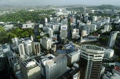奥克兰CBD都市风景-新西兰NZ 免版税库存图片