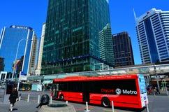 奥克兰CityLink公共汽车在奥克兰新西兰 库存照片