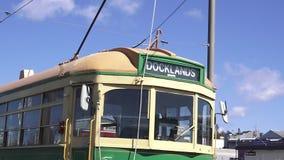 奥克兰Dockline Wynyard处所电车新西兰 股票视频