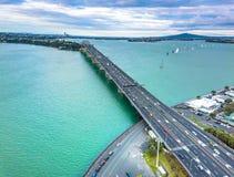 奥克兰Westhaven桥梁 图库摄影