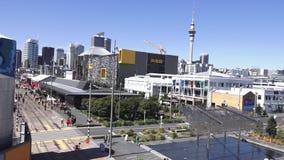奥克兰Wynyard处所新西兰鸟瞰图  股票录像