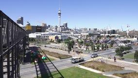 奥克兰Wynyard处所新西兰鸟瞰图  股票视频