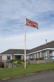 奥克尼郡岛旗子 库存图片
