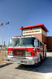 奥克拉荷马市消防车 免版税图库摄影