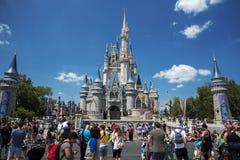 奥兰多,从城堡的图象在迪斯尼世界 免版税库存照片