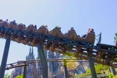 奥兰多,佛罗里达,美国- 2018年5月09日:Hippogriff的过山车飞行 哈里・珀特wizarding的世界  库存图片