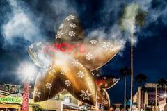 奥兰多,佛罗里达- 2017年12月:Universal's以Macy's为特色的假日游行 库存图片