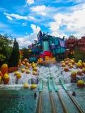 奥兰多,美国- 2014年1月02日:在冒险主题乐园环球影业海岛的主题的吸引力  库存图片