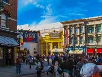 奥兰多,美国- 2014年1月03日:比赛亭子在公园 环球影业是其中一个奥兰多` s著名主题乐园 免版税库存照片
