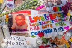 奥兰多,美国- 2017年5月05日:奥马尔Mateen,被杀死49个人和受伤53其他在恐怖袭击怨恨的地方 图库摄影