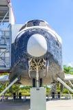 原始的航天飞机探险家在肯尼迪航天中心 库存照片