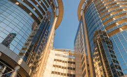 奥兰多, FL - 2016年2月17日:市中心现代大厦  免版税图库摄影