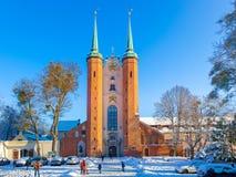 奥利瓦大教堂在冬天 库存图片