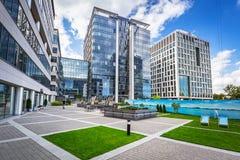 奥利维亚商业中心现代大厦建筑学在格但斯克 免版税图库摄影