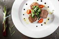 奥利维尔沙拉用小牛肉 免版税图库摄影