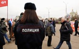 奥勒尔号,俄罗斯, 2017年11月7日:十月革命周年m 免版税库存照片