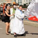 奥勒尔号,俄罗斯, 2015年8月01日:Mumu费斯特, Turgenev的故事艺术f 免版税图库摄影
