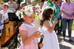 奥勒尔号,俄罗斯- 2016年7月08日:俄国情人节- Petr和 免版税图库摄影