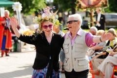 奥勒尔号,俄罗斯- 2016年7月08日:俄国情人节- Petr和 库存图片