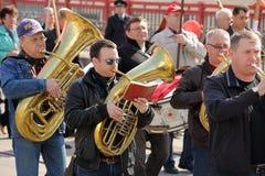 奥勒尔号,俄罗斯- 2016年5月1日:共党示范 布拉索夫 免版税库存照片