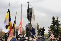 奥勒尔号,俄罗斯- 2016年10月14日:开放伊凡四世的纪念碑 免版税库存图片