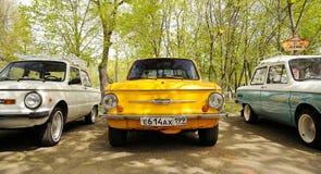 奥勒尔号,俄罗斯- 2017年5月01日:自动野餐 葡萄酒苏联汽车ZA 免版税图库摄影