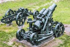 奥匈帝国WWI围困短程高射炮305 mm 免版税库存照片
