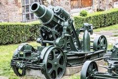奥匈帝国WWI围困短程高射炮305 mm 库存图片