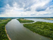 奥卡河视图 库存图片