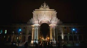 奥古斯塔曲拱,里斯本,葡萄牙 免版税库存图片