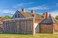 奥古斯塔,缅因,美国老堡垒 图库摄影