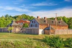 奥古斯塔,缅因,美国老堡垒 库存照片