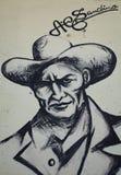 奥古斯托桑地诺壁画 免版税库存图片